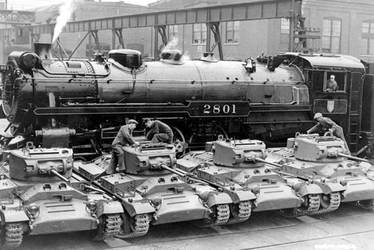 During WW II, Angus Shops In Montreal Produced 1,400 Valentine Tanks For  Shipment To Russia To Assist In Their Drive To Force The German Army Out Of  Eastern ...